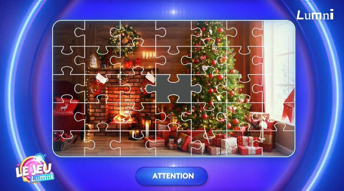 Garance doit trouver la pièce manquante du puzzle de Noël dans le jeu Lumni