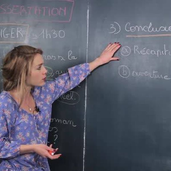 Dissertation - Rédiger la conclusion - Français - Première - Cours en ligne - Les Bons Profs
